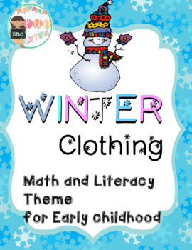 Winter Clothing Math and Literacy Unit for Preschool and K