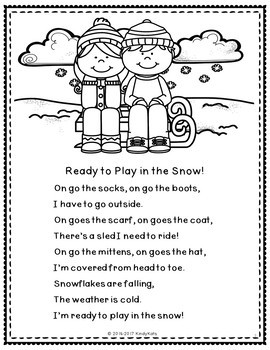 Winter Clothing Poem with Bonus Pocket Chart Version