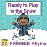 Winter Clothing Rhyme Freebie