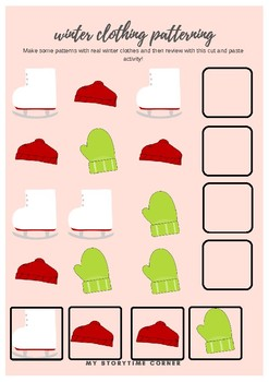 Winter Clothing Printable Activity Pack