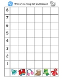 Winter Clothing Roll and Record Graphing Game and Activity