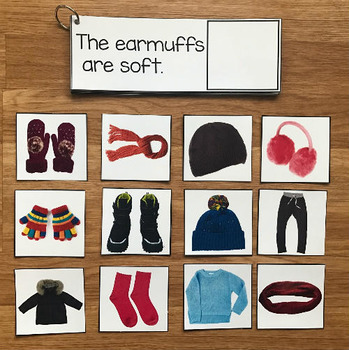 Winter Clothing Sentence Comprehension and Matching Activities w/Real Photos