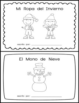 Winter Clothing Spanish Patterned Writing - Escribe Sobre la Ropa del Invierno