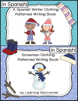 Winter Clothing Spanish Patterned Writing - Escribe Sobre la Ropa del Invierno