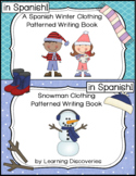 Winter and Snowman Clothing Spanish Patterned Writing