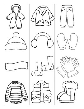Winter Clothing / Vetements d'hiver FRENCH Games