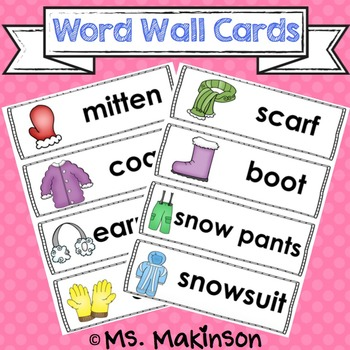 Winter Clothing Words