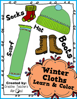 Winter Clothes Classroom Craft