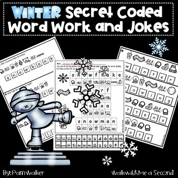 Winter Coded Word Work and Jokes
