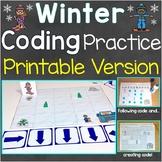 Winter Coding Practice Printable Version, Follow & Create