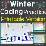Winter Coding Practice Printable Version, Follow & Create
