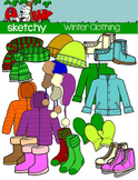 Winter - Cold Weather Clothing Clipart / Graphics