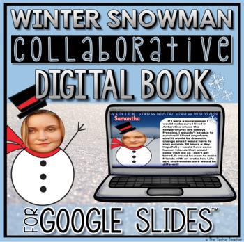 Winter Collaborative Digital Book in Google Slides ☃