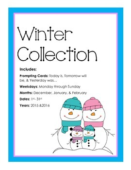 Winter Collection Calander Activities