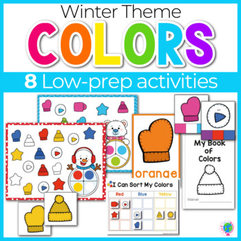 Winter Color Activities | Winter Color Sorting | Winter Centers
