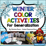 Winter Color Activities for Generalization {Autism, Early Childhood}