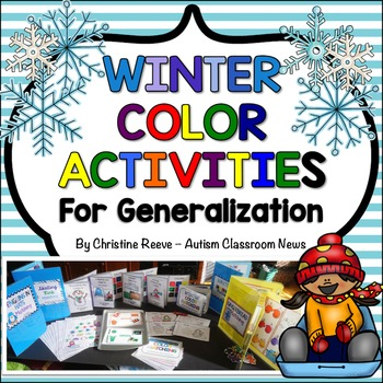 Winter Color Activities for Generalization {Autism, Early