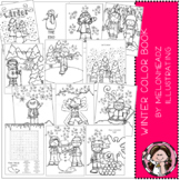 Winter Color Book - Printable - Melonheadz clipart