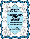 Winter 'Color-By-CVC Word'  ~Phonics Approach To Color-By-Number~