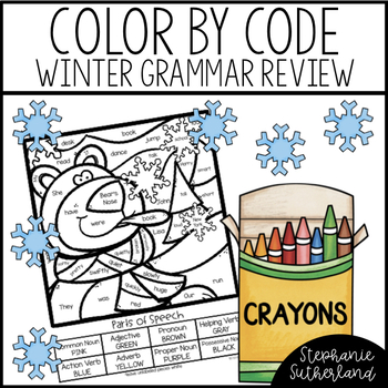 Winter Color By Code | 2nd Grade Grammar