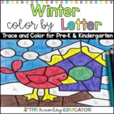 Winter Color By Code Alphabet Trace Worksheets