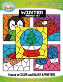 Winter Color By Code Clipart {Zip-A-Dee-Doo-Dah Designs}