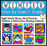 Winter Color By Code First Grade