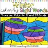 Winter Color By Code First and Second Grade Sight Word Worksheets