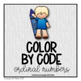 Winter Color By Code for Ordinal Numbers (Leveled)