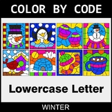 Winter: Color By Letter (Lowercase)