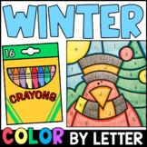 Winter Color By Letter