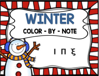 *TWO* Winter Color-By-Note Worksheets!