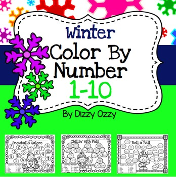 Winter Color By Number 1-10