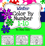 Winter Color By Number 1 to 10