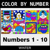 Winter Color By Number - 1 - 10
