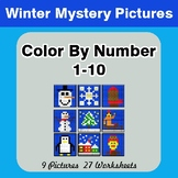 Winter: Color By Number 1-10 | Winter Mystery Pictures