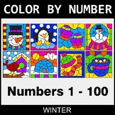 Winter Color By Number - 1 - 100