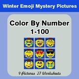 Winter Color By Number 1-100 | Winter Emoji Mystery Pictures