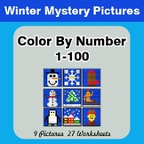 Winter: Color By Number 1-100 | Winter Mystery Pictures