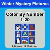 Winter: Color By Number 1-20 | Winter Mystery Pictures