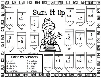 Winter Color By Number ADDITION to 12