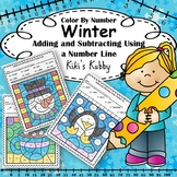 Winter: Color By Number Adding and Subtracting Using a Num