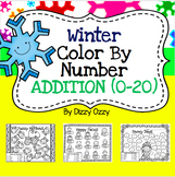 Winter Color By Number Addition to 20