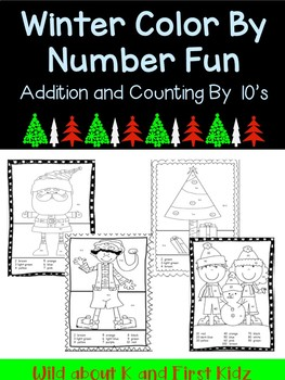 Winter Color By Number Pack with Addition