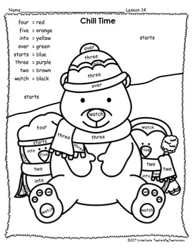 Winter Color By Sight Words - First Grade - Journeys Units 3 & 4 and Dolch