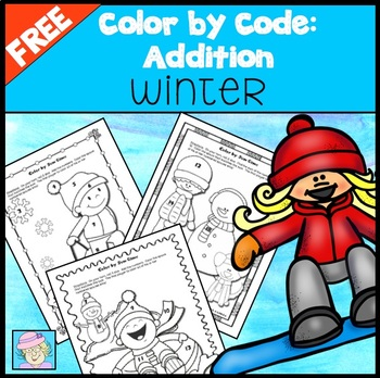 Color by Code Addition FREE