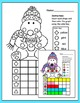 Winter Activities Color, Count and Graph - Penguins and Polar Bear
