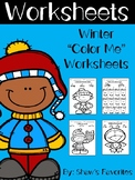 "Winter ""Color Me"" Worksheets {First Grade}"