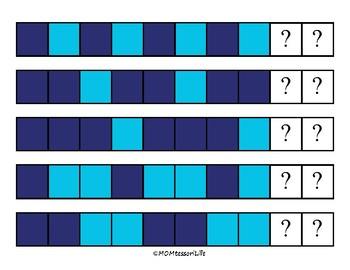 Winter Color Pattern Cards 2