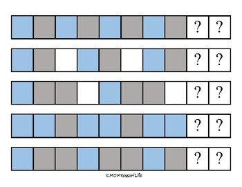 Winter Color Pattern Cards